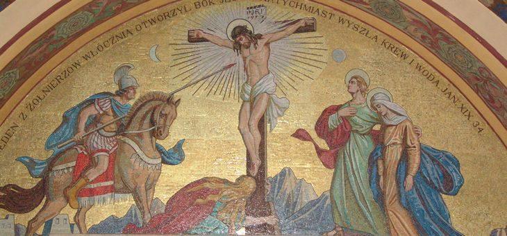 Serce Jezusa włócznią przebite