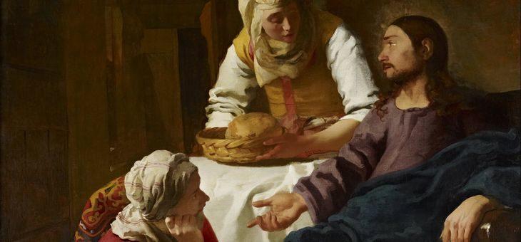 O siostrach miłujących Jezusa: Marcie i Marii. Łk 10,38-42